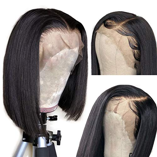Megalook Bob Wigs Human Hair Lace Front Wigs Straight Human Hair Wigs Human Hair Bob Wigs For Black Women 13x4 Lace Front Bob Wigs Pre Plucked Hairline