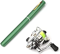 Lixada Pen Fishing Rod Reel Combo Set Premium Mini Pocket Collapsible Fishing Pole Kit Telescopic Fishing Rod + Spinning Reel Combo Kit 1M / 1.4M