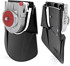 Camera Belt Metal Holster: Waist Clip Holder Buckle for Pro DSLR Mirrorless Point & Shoot/Quick Release Plate / (Canon, Nikon, Sony, Olympus, Fuji)