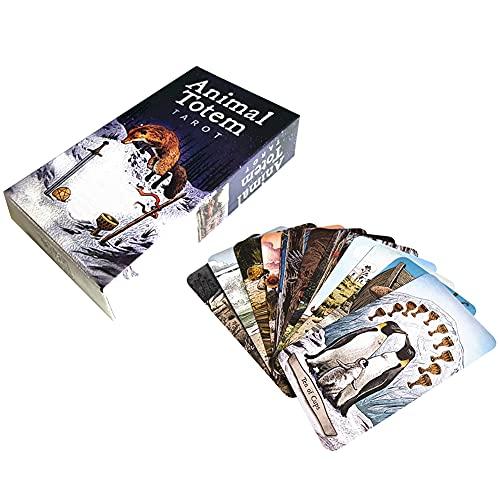 ANUFER 78 Piezas/Conjunto Cartas de Tarot Tablero de Cubierta Decir el Futuro Adivinación Juego Edición en Inglés Animal SN07408