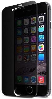 حامي شاشة زجاجي بقوة حماية زجاجية مقاوم للكسر 5D غامق للحفاظ على الخصوصية لجوال ايفون 8 بلس