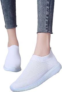 Zapato Deporte Mujer, Zapatillas Deportivas Planas De Malla Transpirable En Suelas Cómodas Calzado Para Correr Fitness Gim...