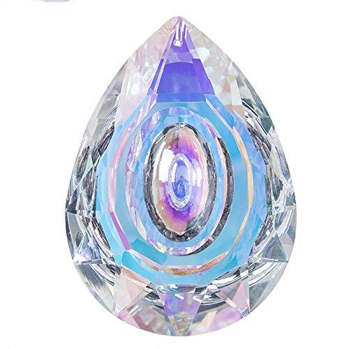 Mrjg Kristallkugel Hängende Kristalle Prism Suncatcher for Windows Dekoration 89mm AB-Farbe Kronleuchter Teile DIY Hochzeitsdeko Zubehör glaskugel