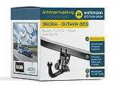 Weltmann 7D500018 geeignet für Skoda Octavia (5E3) + Kombi (5E5) - Abnehmbare Anhängerkupplung inkl. fahrzeugspezifischem 13-poligen Elektrosatz