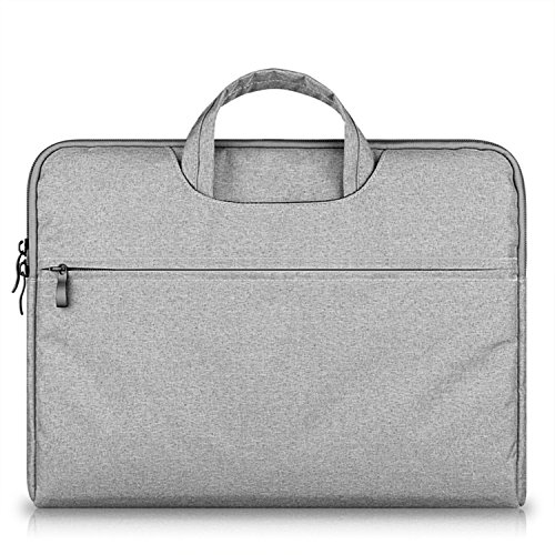 15.6 16 inch Canvas Fabric Multi-Functional Business Laptop Sleeve/Carrying Handbag Briefcase/Laptop Bag for All 15 15.6 Inch Acer Asus Dell Lenovo Hp Samsung Toshiba
