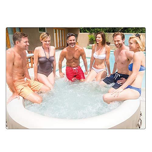 Intex 28428 Pure Spa Bubble Therapy, 216 x 71 cm 6 Posti, Sabbia, Con Pompa, Riscaldatore, Sistema Purificazione Acqua, Beige Classic