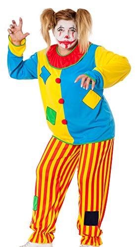 r-dessous Horror Clown Kostüm Damen Herren Killer Grusel Harlekin böser Clownkostüm Halloween Motto Party Groesse: XXL/XXXL