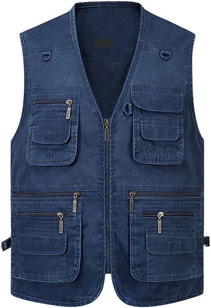 Big Men Multi Vest Casual Many Sleeveless Male Outdoor Waistcoat