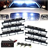 DSGYZQ LED Set 54 - Luces estroboscópicas Blancas - iluminación de Emergencia o Luces de Advertencia - En la Rejilla Frontal del Coche o camión