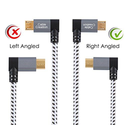 CableCreation Micro USB Kabel, Aluminium, Kurz Winkel Micro USB Ladekabel, Rechtwinklig USB A auf Micro-USB-Ladekabel, Kompatible mit Kindle Fire, Galaxy S6, Galaxy Note 4, Motorola, 15CM, Space Grau