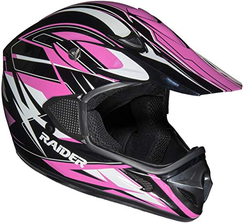 Raider RX1 Unisex-Adult MX Off-Road Helmet (Pink, Medium)