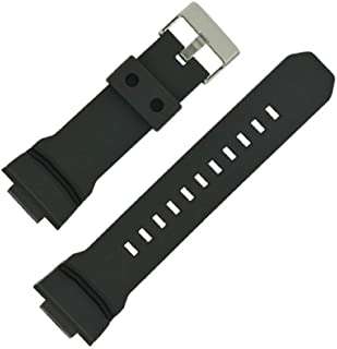 g24 16mm x 29mm Compatible casio Rubber Replacement Watch Strap Band fits g-Shock CASIO G Shock Watch Model # Ga200-1 Ga-200-1 gshock GA-150/200/201/300/310/GLX Stainless stell Buckle