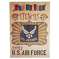 アメリカ軍エンブレムロゴステンシルシート (US AIR FORCE(type2))
