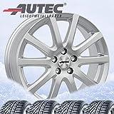 Autec Lot de 4 roues d'hiver Skandic 6 x 15 ET43 5 x 112 avec 175/65 R15 84T Michelin Alpin A4 pour Mini Mini