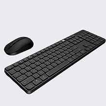 KLZCBAAB لوحة مفاتيح مكتبية لاسلكية وماوس ضبط 104 مفاتيح لوحة مفاتيح USB محمول متوافق