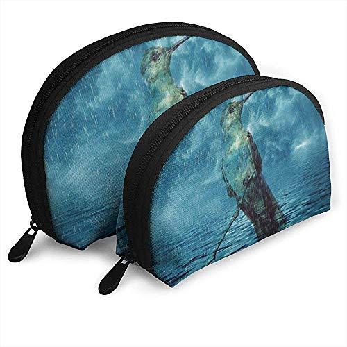 Kolibri-See-Wasser-tragbare Taschen-Make-upbeutel-Kulturtasche, tragbare Multifunktionsreisetaschen-kleine Make-upkupplungs-Tasche mit Reißverschluss