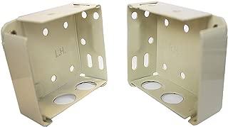 Delta Blinds Supply High Profile Box Mounting Bracket Set for Window Blinds - Alabaster