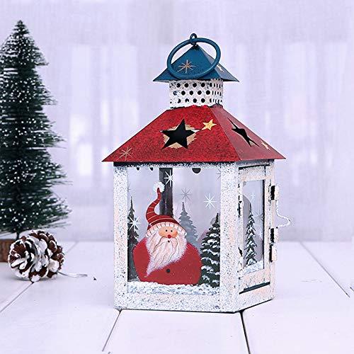 Lanterna natalizia decorativa lanterne decorative in ferro metallo lanterne lanterne vintage per candele di Natale, per interni ed esterni, feste, matrimoni