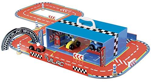 Vilac - 2334 - Radio Commande Véhicule Miniature - Circuit de Course en Valise