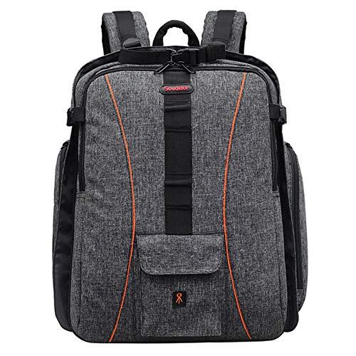 DFGRFN Photography Backpack 2 Wheel,Waterproof Canvas Backpack,Trolley Detachable Camera Bag,Business Luggage Camera Backpack,Grey