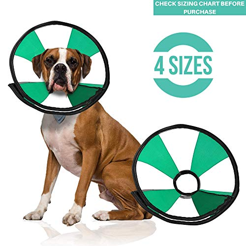 ProCollar Pet Recovery Cone E-Collar for Dogs and Cats - Comfortable Soft Collar is Adjustable for a Secure and Custom Fit - Easy for Pets to Eat and Drink - Works with Your Pet's Collar (Medium)