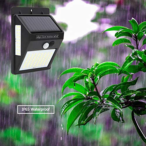 ACHICOO 100 LED's 3 zijden Luminous Solar Powered Light Control IP65 waterdichte bewegingsmelder wandlamp