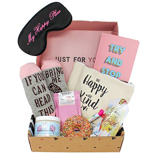 Milky Chic Special Womens Birthday Gift Box Basket Set for Mom, Wife, Sister, Friend, Pack of 8 Fun...