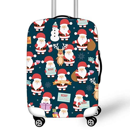YI'HUI Cartoon Christmas Elk Suitcase Schutzhülle Für Den Neujahrskoffer, Santa Design Bag Geeignet Für 18-32 Zoll Koffer,Lr5,XL