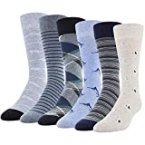 Gildan mens Fashion Dress Crew Socks, Nautical Assorted, Shoe Size: 6-12