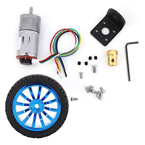 Kit de coche inteligente con motor de engranajes, alto par de 12 V para carro de logística para robot para coche inteligente(Speed 50)
