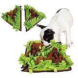 【DIYデザイン:】 三角マット2枚, 裏側のベルクロ, あなたは好きなフォームを作成することができます 【ペットのおもちゃマット】あなたのペットは、マットの上に隠れたペットフードを再生して検索したい あなたの犬の鼻と脳を自然の食糧のための狩猟を模倣することによって働かせるようにします。自然飼養技術を奨励します。 【良いペット運動器具】あなたのペットはマットの上で食べ物を狩りながらスポーツをしますが、それはあなたのペットが体重を減らすのに役立ちます 消化 【サイズ】シングル三角マット:44*44...