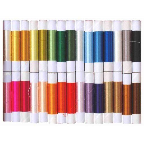 Affordable High-class Silk Embroidery Thread of 30 Colors (Japan Import)