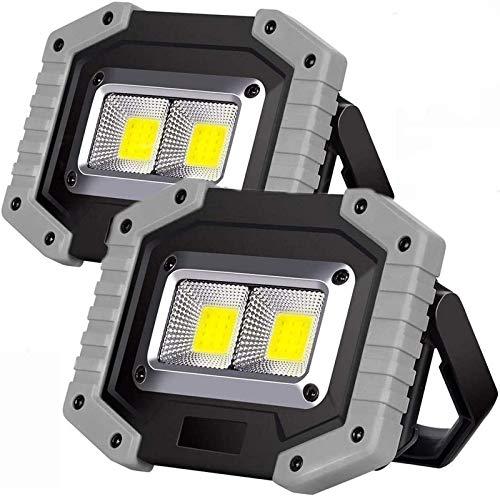 MFLASMF Luz de Trabajo portátil Recargable 20W 1500LM, reflectores LED con Puerto de Carga USB, 3 Modos de iluminación, Luces Impermeables para Acampar al Aire Libre, luz de Seguridad de e
