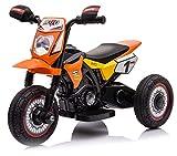 kid go Moto Elettrica per Bambini 6V Mini Cross Arancione