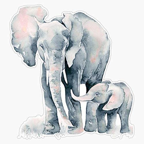 Elephant Watercolor Vinyl Waterproof Sticker Decal Car Laptop Wall Window Bumper Sticker 5 product image