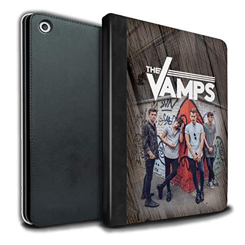 The Vamps PU Pelle Custodia/Cover/Caso Libro per Apple iPad 9.7 2018/6th Gen Tablet/Effetto Legno Servizio Fotografico Disegno