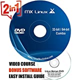 Latest MX Linux [LATEST VERSION] Bootable DVD Desktop 64Bit and 32Bit on Bootable DVD + LINUX DVD VIDEO COURSE - 32 64 Bit 20 19