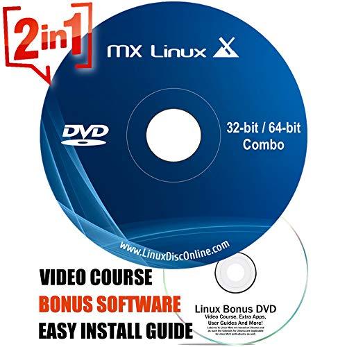 Price comparison product image Latest MX Linux [LATEST VERSION] Bootable DVD Desktop 64Bit and 32Bit on Bootable DVD + LINUX DVD VIDEO COURSE - 32 64 Bit 20 19
