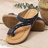 LQQSD Verano Chanclas con Punta De Clip, Sandalias De Tacón Plano para Mujer, Sandalias para Caminar Zapatos Confort Casual Zapatillas De Mamá Sandalias De Playa Antideslizantes Sandalias