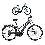 FISCHER Damen-Schwarz Viator 4.0i-Bicicleta eléctrica para Mujer (28', Motor Central 50 NM, batería de 48 V), Color Negro Mate, 28'' -RH 44 cm