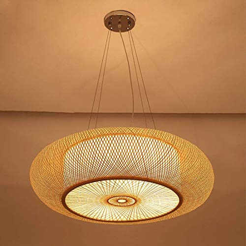 GaLon bamboe-retro-verlichting, gevlochten manden, plafondlamp, plafondlamp, boerderij, rotan