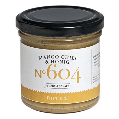 Mango und Chili mit Honig N°604 - bester Honig aus Deutschland, fruchtig scharf, cremig, getrocknete und gemahlene Mango und Chili, Inhalt: 160g
