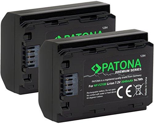 PATONA Premium - 2X NP-FZ100 - (2040mAh mit Infochip) - ohne Nutzungseinschränkung