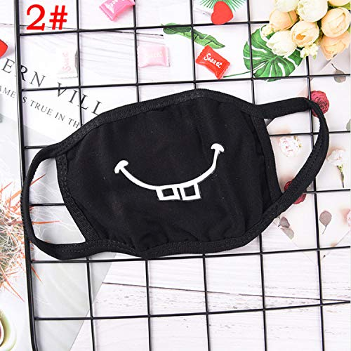 Mouth Mask Cotton Cute Pm2.5 Anti Haze Black Dust Mask Nose Filter Windproof Face Muffle Bacteria Flu Fabric Cloth Respirator A