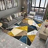 Alfombra de Dormitorio Alfombra Resistente al Desgaste, Alfombra Gris y Amarilla alfombras Infantiles Lavables -Gris_160x200cm