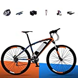 HHHKKK Adulte 26 Pouces Ville vélo électrique rétro Design avec pédale électrique Ebike 250W36v Lithium Voiture électrique Adapté pour Les Personnes âgées/Femmes/Hommes