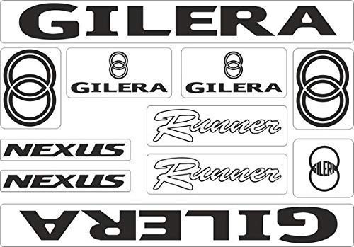 SUPERSTICKI Gilera Nexus Set motorfiets sticker bike auto racing tuning van high-performance folie sticker tuning stickers high-performance folie voor alle gladde oppervlakken UV en was