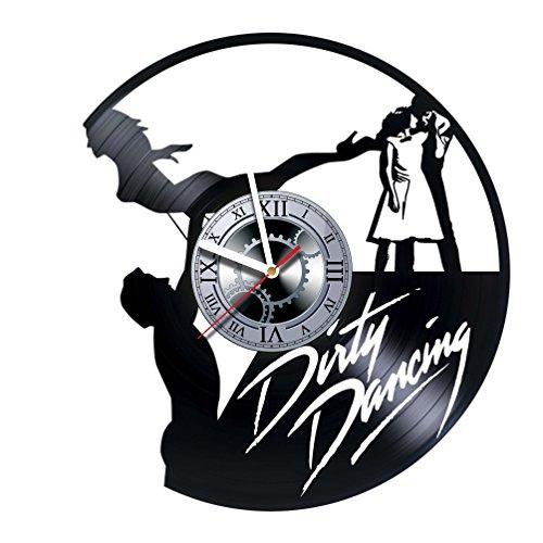 studioRUTART Dirty Dancing - Wall Clock Made of Vinyl Record - Decor Handmade Art Design - Great Gifts idea for Birthday, Wedding, Anniversary, Women, Men, Friends, Girlfriend Boyfriend and Teens