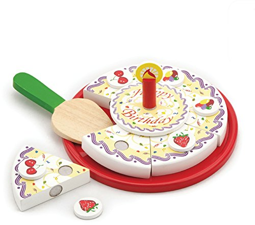 Viga Toys - 58499 - Jeu D'imitation - Cuisine - Gâteau D'anniversaire - À Découper