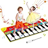 OMEW - Alfombra de piano 148 x 60 cm, alfombra de música para bebé, alfombra de danza musical, 8 son...